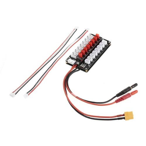 GTPOWER 8X JST Plug 2S / 3S Batterie Lipo Parallel Board de charge pour Balance Chargeur