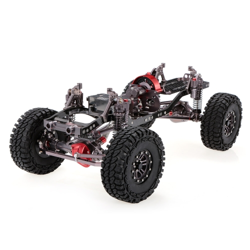 1/10 Cool Racing CNC Aluminum and Carbon Frame AXIAL SCX10 Chassis 313mm Wheelbase Gun Metal