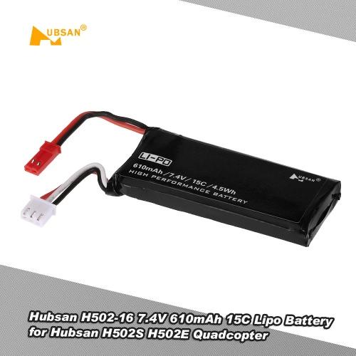 Hubsan X4 H502S H502E RCクワッドローターのためのオリジナルHubsan H502-16 7.4V 610mAh 15Cリポバッテリー