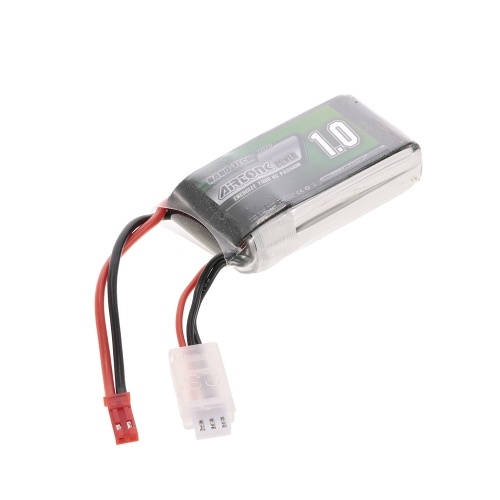 7.4V 1000mAh 30C 2S Rechargeable Li-Po Battery with JST Plug for RC Racing Drone Quadcopter Helicopter Airplane Car Truck