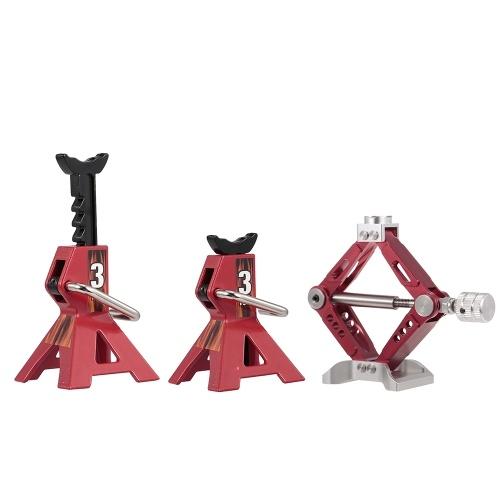 3pcs emulational rc carro parte metal jack stand ferramenta