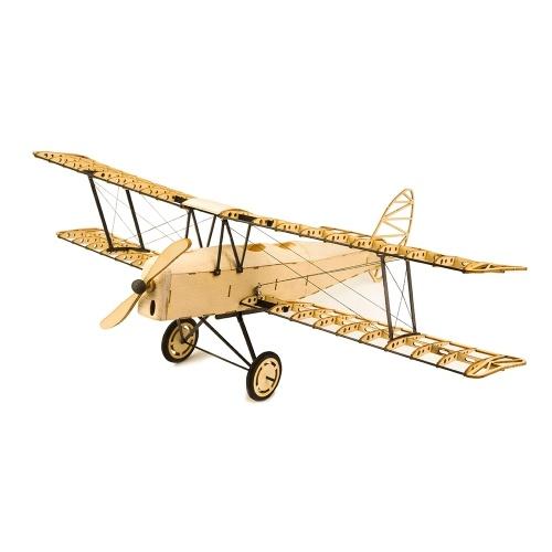 Dancing Wings Hobby VX10 1/18 De Havilland Tiger Moth 400mm Apertura alare di legno Statico modello di aeroplano