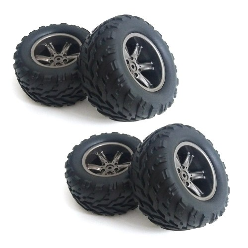 4 STÜCKE Reifen Rad für XINLEHONG SPIELZEUG 9115 1/12 40 km / std RTR High Speed Monster Truck RC Auto