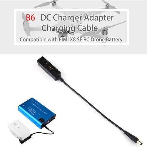 B6 B6AC DC Cargador Adaptador Cable de carga Compatible con FIMI X8 SE RC Drone Battery