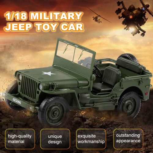 685006 1/18 Military Jeep Toy Car Military Tactics Car
