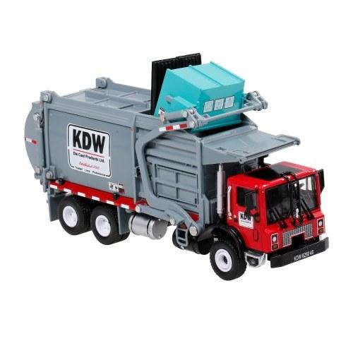 1:24 Alloy Diecast Barreled Müllwagen LKW Abfalltransporter Fahrzeug Mod Collector Hobby Spielzeug