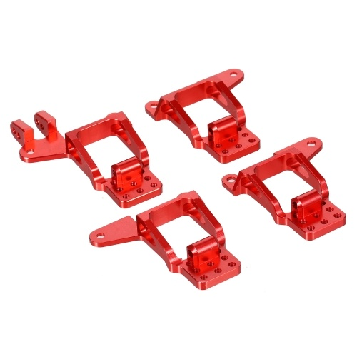1/10 RC Car Aluminum Front/Rear Shock Tower Hoops Bracket Mount Compatible with Traxxas Trx-4 Car 4PCS Upgrade Parts Image