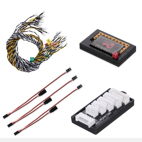 14-LED Flashing Light System for 1/10 1/8 RC Car Compatible with Traxxas Hsp Redcat Rc4wd Tamiya Axial Scx10 D90 Hpi