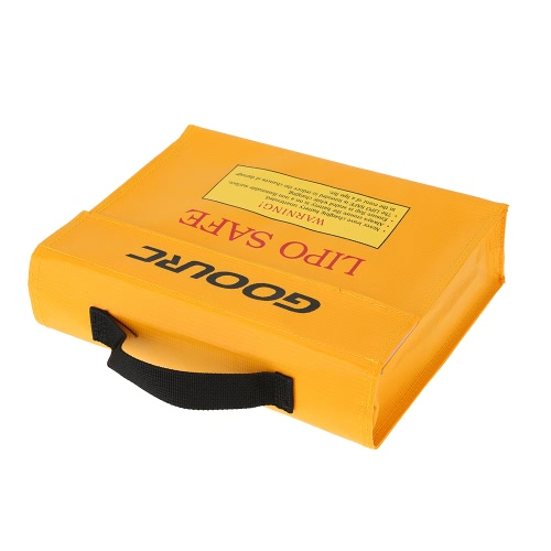 GoolRC 24 * 18 * 6,5 cm oro alta calidad vidrio fibra RC LiPo batería seguridad protector seguro carga saco la bolsa