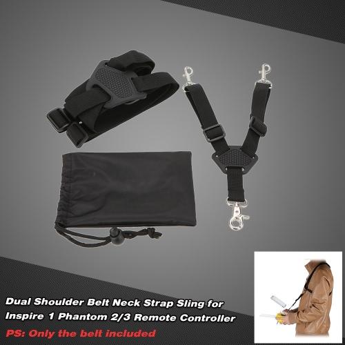 Dual Shoulder Belt Neck Strap Sling for DJI Inspire 1 Phantom 2/3 RC Quadcopter Remote Controller