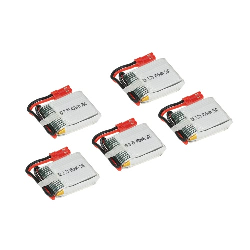 5Pcs 3.7V 450mAh 20C Lipo Battery Kit pour Syma X5C X5SW Udi U841 RC Quadcopter