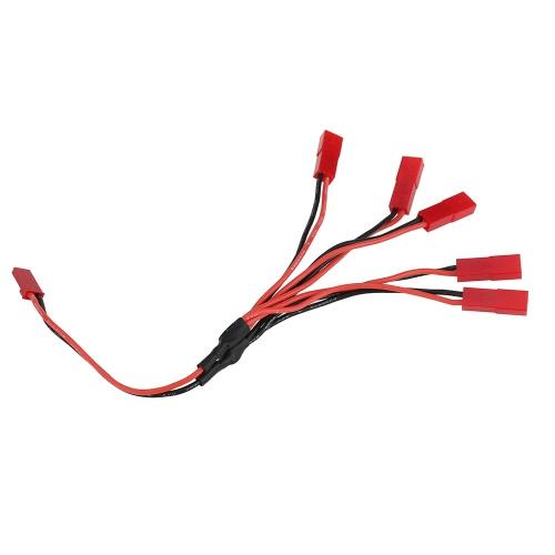 5 en 1 cargador de la batería que conecta el cable para WLtoys V636 V686 JJRC H12C V686G UdiRC U815A U818A RC Quadcopter