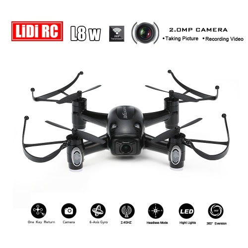 Original LIDI RC L8W 6-Axis Gyro WIFI Real-time RC Quadcopter with 2.0MP HD Camera Headless Mode and One Key Return Function