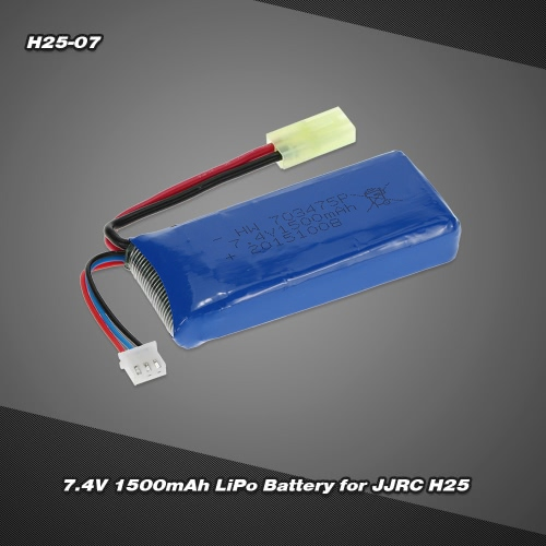 H25-07 7.4V 1500mAh LiPo Battery for JJRC H25 H25C H25G RC Quadcopter
