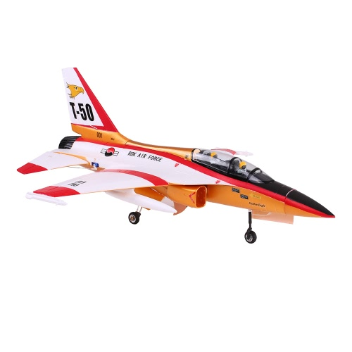 Original Unique T-50 Drone 820mm Wingspan 70mm EDF Jet Trainer EPO Aircraft RC Airplane PNP Version with Electric Retractable Landing Gear and Auto Pilot Cabin