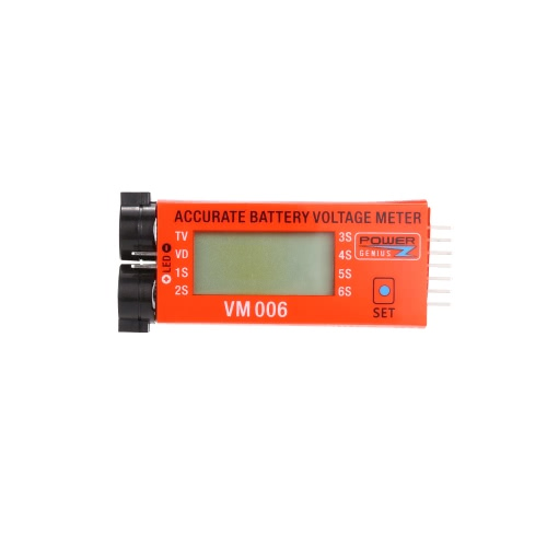 Power Genius 1-6S Cellules 3.7 V 7.4 V 11.1 V 14.8 V 18.5 V 22.2 V Batterie Tension LCD Affichage avec Basse Tension Fonction D'alarme pour RC Batterie