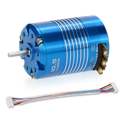 Hochleistungs 540 10.5T 3450KV Sensored Brushless Motor für 1/10 RC Car Truck