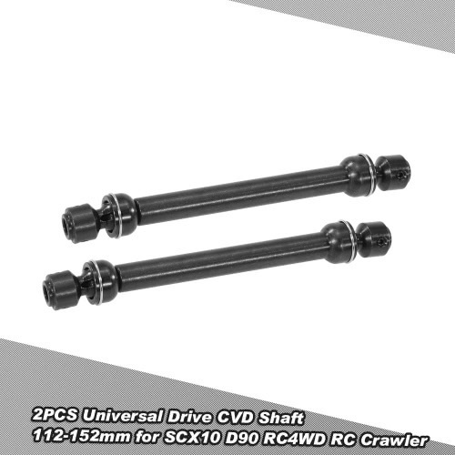 2PCS Stainless Steel Universal Drive CVD Shaft 112-152mm for SCX10 D90 RC4WD RC Crawler