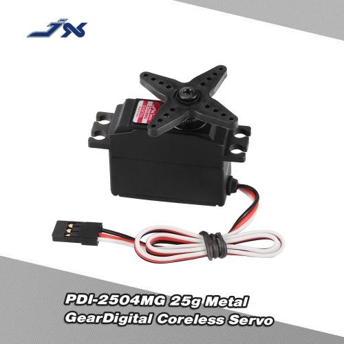 JX PDI-2504MG 25g Metal Gear cyfrowe Bezrdzeniowy serwo RC 450 500 Śmigłowiec Fixed-skrzydło samolotu