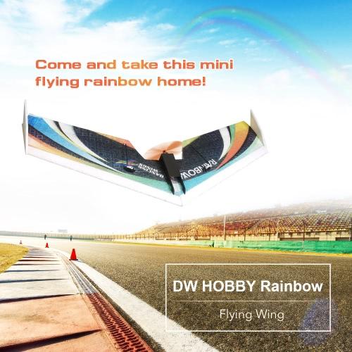 モーターESCサーボとDW HOBBYレインボーフライングウィングEPP 800ミリメートル全幅テールプッシュKITのFPV RC飛行機