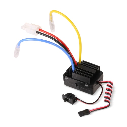 GoolRC 40A Waterproof Brushed ESC Electric Speed Controller with 6V/2A BEC for 1/10 RC Rock Crawler Car RC Boat