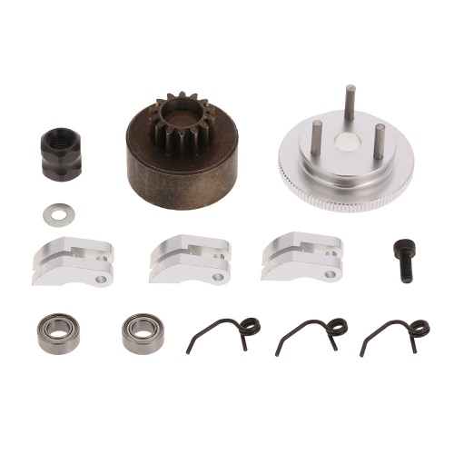 81020 RC Clutch Bell 14T Gear Flywheel Assembly For HSP 94081 Redcat 1/8 RC Buggy