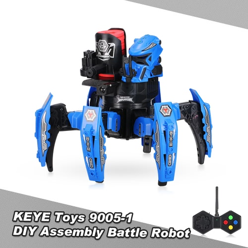 KEYE Toys 9005-1 2.4G Remote Control Space Warrior DIY Assembly Battle Robot RC Toy