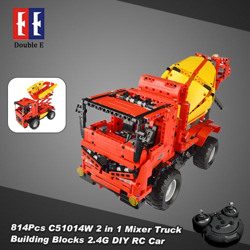 814Pcs Double E C51014W 2 in 1 RC Mixer Truck Building Blocks Kits 2.4G Engineering Model DIY Construction Toys от Tomtop.com INT
