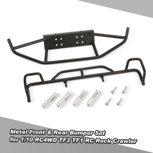 Metal Front Bumper Rear Bumper Car Parts for 1/10 RC4WD TF1 RC Rock Crawler