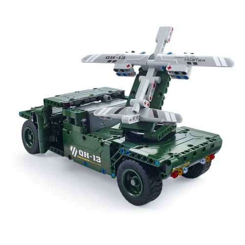 506Pcs Utoghter 69002 2.4G RC UAV Carrier Building Blocks Kits Toy Bricks RC Car Model