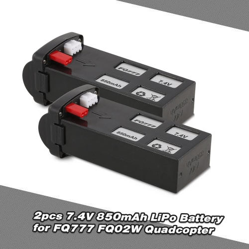2pcs Original FQ777 7.4V 850mAh LiPo Battery for FQ02W Utoghter 69508 FPV Quadcopter