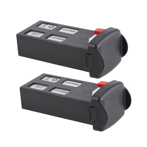 Batterie LiPo 2pcs FQ777 7.4V 850mAh pour FQ02W Utoghter 69508 FPV Quadcopter