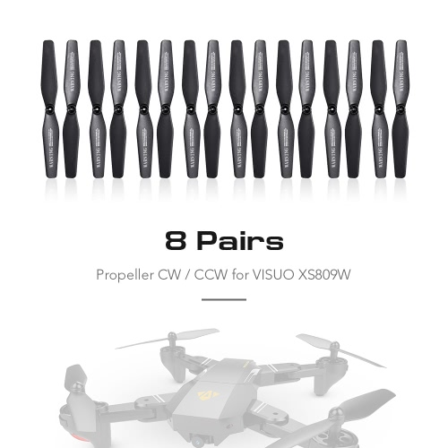 8 Pairs Propeller CW/CCW for VISUO XS809W XS809HW FPV Quadcopter