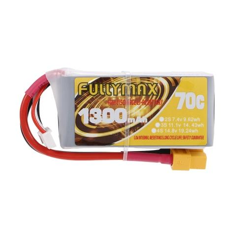 FULLYMAX 3S 11.1V 1300mAh 70C Batterie LiPo à haut débit XT60 Plug pour QAV210 250 LS180 FPV Racing Quadcopter RC Car Boat