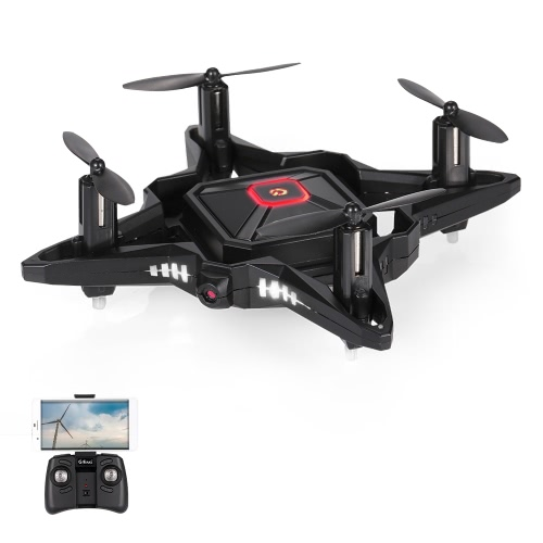 GTENG T911W 0.3MP Camera Wifi FPV Foldable Pocket Drone Altitude Hold One Key Return G-sensor Quadcopter