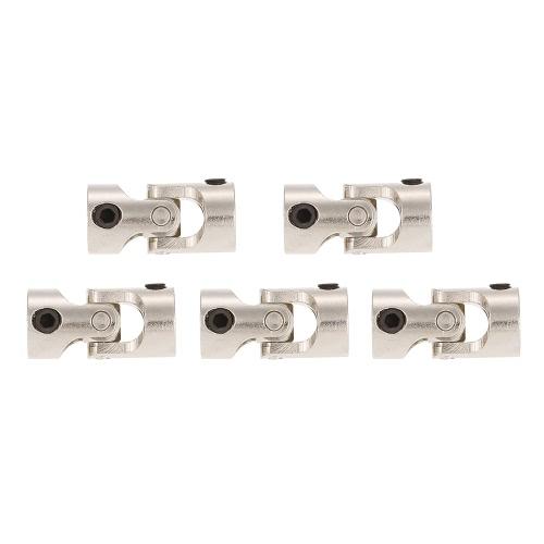 5pcs Edelstahl 5 bis 4mm Vollmetall Universal Gelenk Kardan Kupplungen für RC Auto und Boot D90 SCX10 RC4WD
