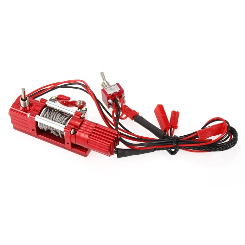 Metal Steel Wired Automatic Simulated Winch with Remote Controller for 1/10 CC01 Axial SCX10 RC4WD D90 RC Rock Crawler