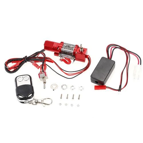 Treuils automatiques câblés en acier au métal avec télécommande pour 1/10 CC01 Axial SCX10 RC4WD D90 RC Rock Crawler