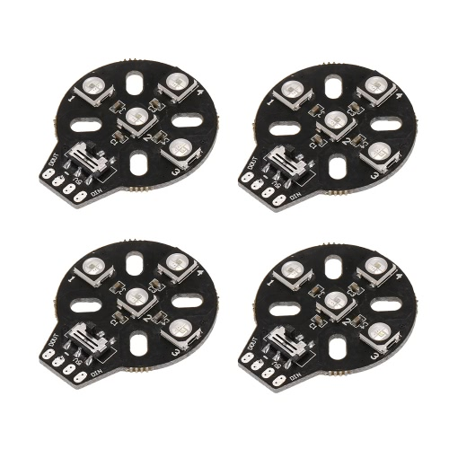 4pcs HGLRC WS2812B 5V 5050 RGB Motor Led Board para Naze32 F3 CC3D Flight Control RC Racing Drone