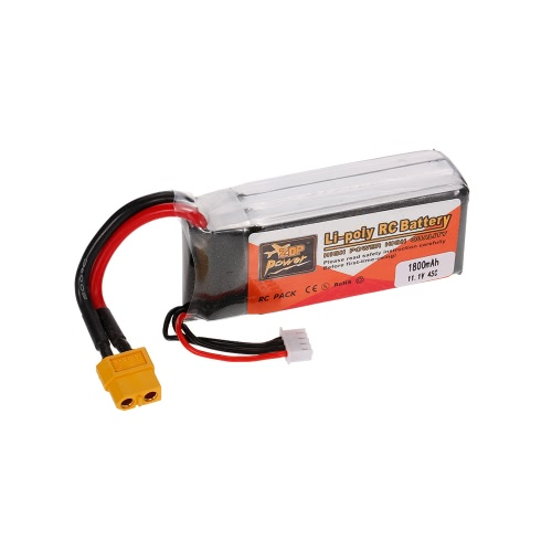 ZOP Power 3S 11.1V 1800mAh 45C LiPo Battery XT60 Plug