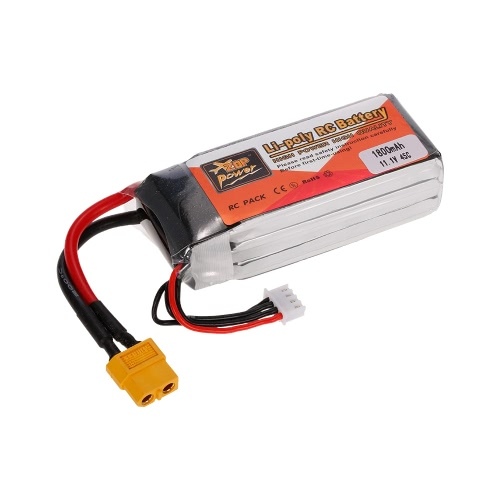 ZOP Power 3S 11.1V 1800mAh 45C XT60 Plug LiPo Battery for 210 250 F330 Multicopter Drone 450 Helicopter RC Car Boat