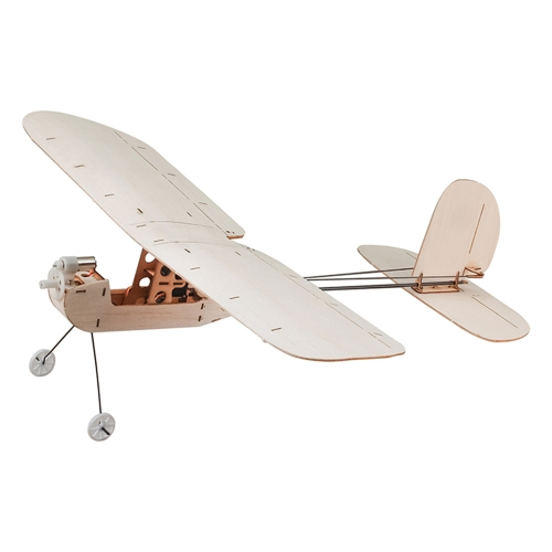 Keplar Balsawood 316mm Wingspan Biplane Warbird Aircraft Light Wood Airplane Kit w/ EPS7 Brushed Motor 5030 Prop