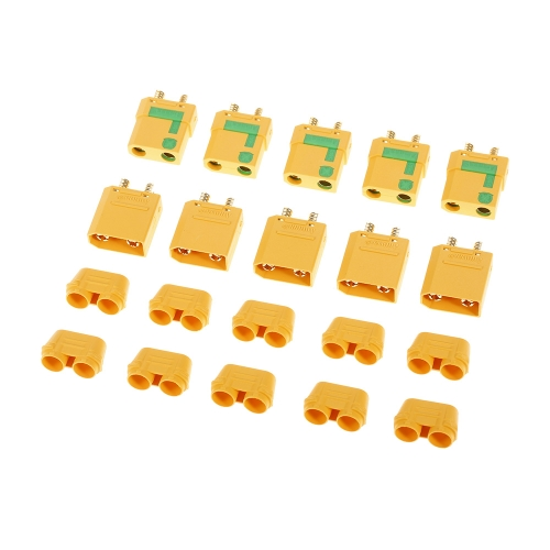 5 Pairs AMASS XT90-S XT90 Anti-Spark Male Female Connector Plug Kit for FPV Racing Drone Multirotor RC Airplane Car Battery