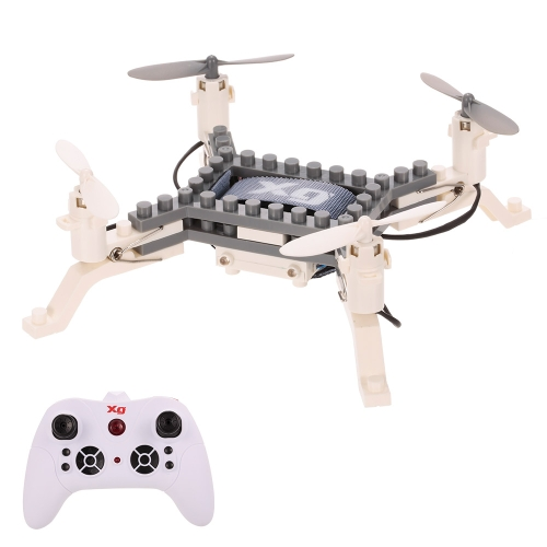 XG171 DIY Building Block Drone Height Hold One Key Return Clip Quadcopter Toy