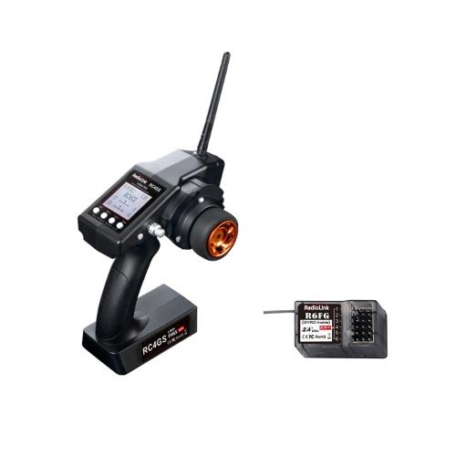 Trasmettitore RadioLink RC4GS 2.4GHz 4CH con telecomando e ricevitore R6FG con giroscopio per RC Crawler Car Boat