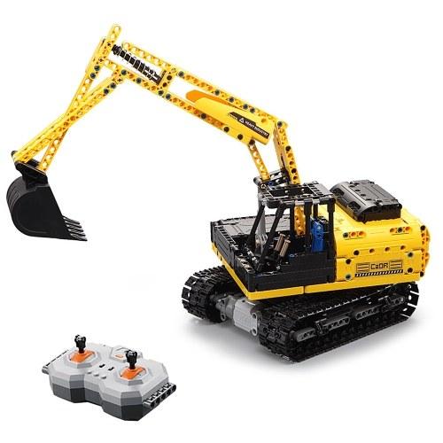 DOUBLE E C51057 2.4GHz 1:20 4WD 544pcs Blocs de Construction Piste Digger Pelle Tracteur Véhicule DIY Jouet Cadeau De Noël pour Enfants