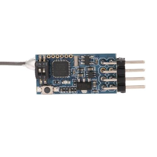 Mini 8CH receptor de retorno bidireccional con amplificador de potencia para Frsky X9D Indoor Crossing RC FPV Racing Quadcopter
