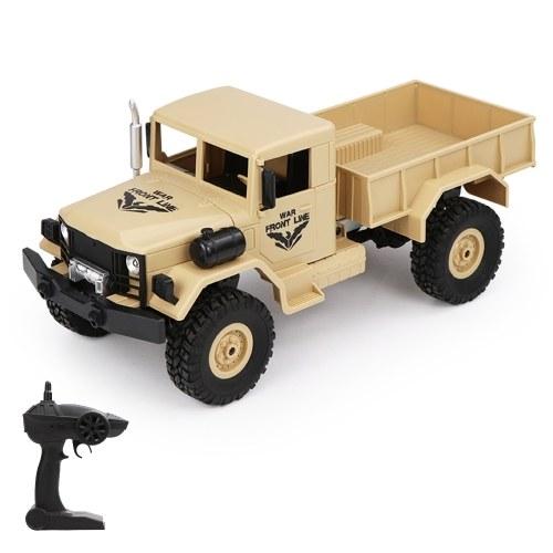 JJR / C Q62 1:16 RC Auto fuoristrada camion militare 2.4G 4WD auto w / Head Lights 500g carico RC Pickup auto regalo