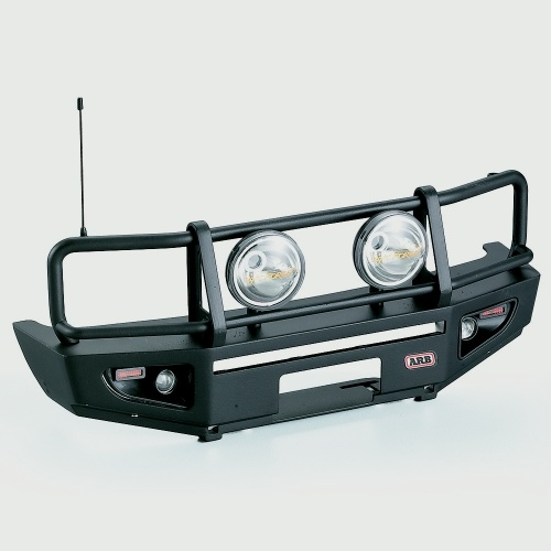 Alloy Front Bumper w/ LED Light Lamp for RC4WD TF2 LWB Axial SCX10 & SCX10_Ⅱ 1/10 RC Crawler Truck SUV Car