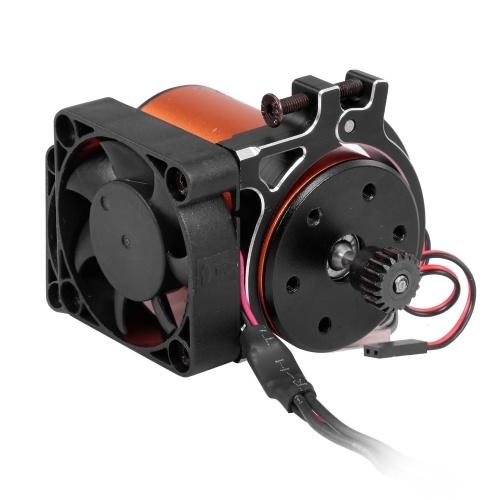 Ventilateur de refroidissement de radiateur de moteur de voiture RC avec capteur thermique radiateur de pince en alliage d'aluminium CNC